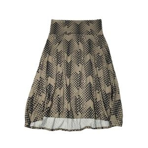 NWT LuLaRoe Light Brown Azure Skirt- Size Medium
